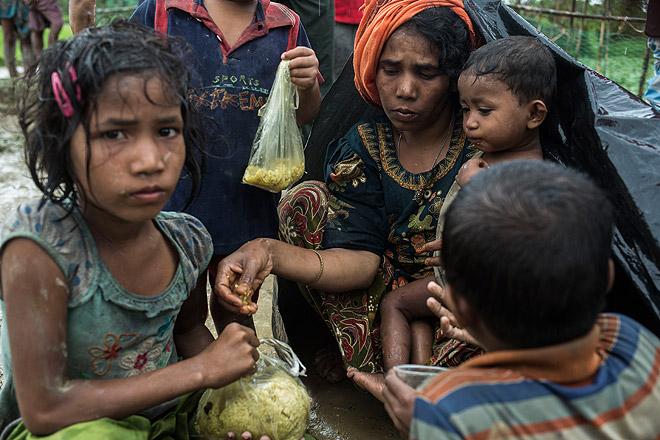 DRK hilft bei der Versorgung  der geflüchteten Rohingya