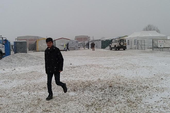 Softex/Kordelio camp, northern Greece, 10 January 2017. Northern